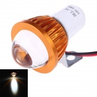 Universal Motorcycle 6W 150lm 6400K White Light LED Fisheye Lamp Spotlight - Golden + White (12V)