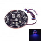 Universal Motorcycle / Vehicle DIY 2~6W 150lm 490nm Blue Light LED Decoration Lamp - Black (DC 12V)