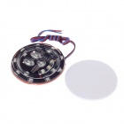 Universal Moto / DIY véhicule 2 ~ 6W 150lm 490nm Blue Light Décoration Lampe LED - Noir (12V DC)