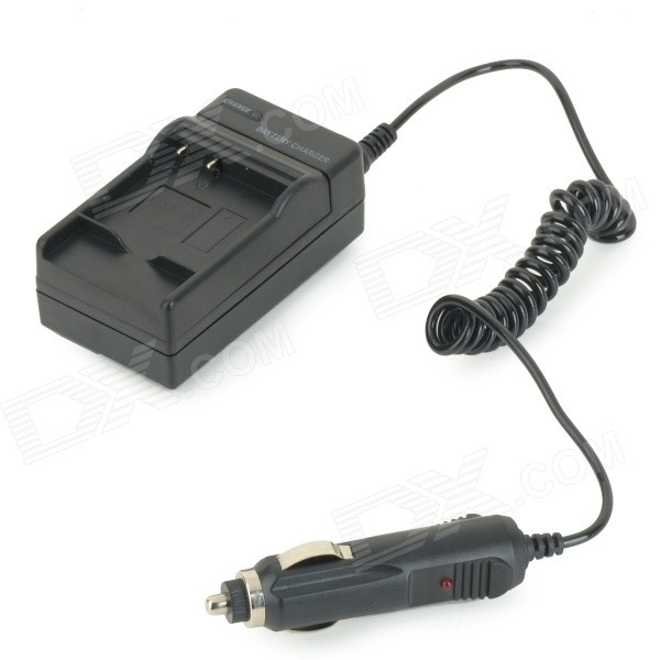 Portable Digital Camera Battery Charger for SAM BP1410 w/ Car Cigarette Lighter - Black