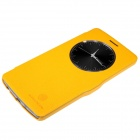 NILLKIN Fresh Series Protective Flip Open PU Leather + PC Case for LG G3 Beat - Yellow