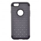 "NEJE FS0002-4 Bling Rhinestone Inlaid PC + Silicone Back Case for IPHONE 6 4.7"" - Gray + Black"