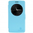 NILLKIN Fresh Series Protective PU Leather Flip Open Case for LG G3 Beat - Blue