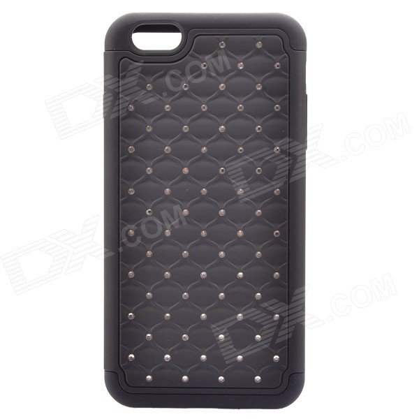 NEJE FS0002-6 Bling Rhinestone Inlaid PC + Silicone Back Case for IPHONE 6 PLUS 5.5 - Black iface mall for iphone 6 plus 6s plus glossy pc non slip tpu shell case black