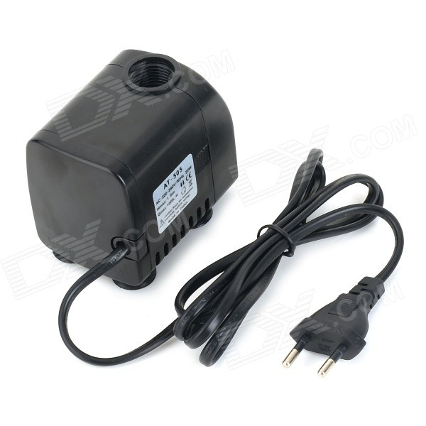 AT-505 20W Submersible Water Pump - Black (220~240V / EU Plug) at 707 7w pet fish tank submersible pump black eu plug 220 240v