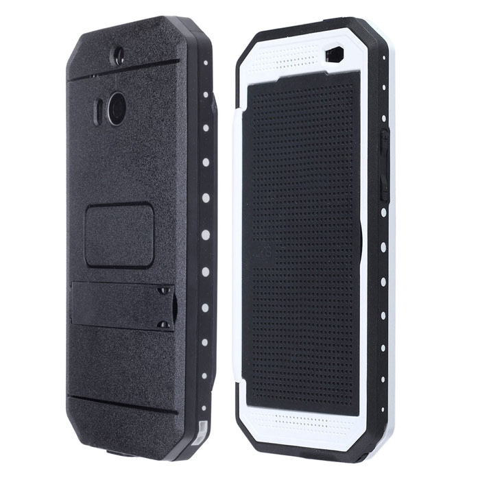 Redpepper Ultra-thin Waterproof Shockproof Case with Dot View Screen and Holder for HTC One M8