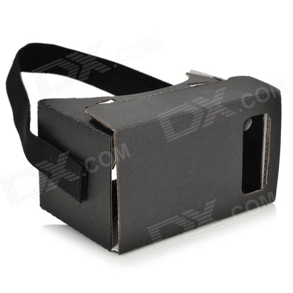 цены DIY Virtual Reality Paper Card Google Cardboard Resin Glasses - Black