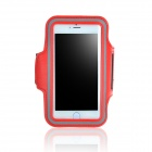 "IPB-i602 Outdoor Sports PU Leather + Elastic Fiber Armband for IPHONE 6 PLUS 5.5"" - Red + Black"