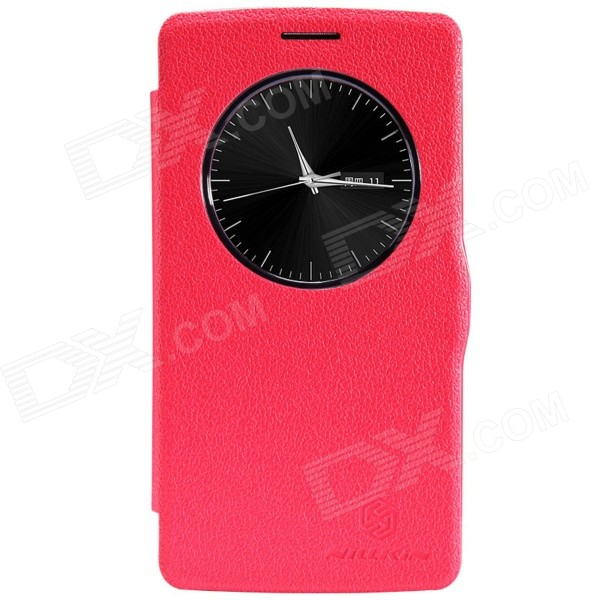 NILLKIN Fresh Series Protective PU Leather + PC Back Case for LG G3 Beat - Red