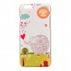 Cute Elephant & Smile Sun Pattern Basso-Relievo Protective PC Back Case for IPHONE 6 4.7""