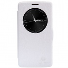 NILLKIN Fresh Series Protective PU Leather Flip Open Case for LG G3 Beat - White