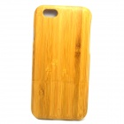 "LS-I6 Retro Style Detachable Protective Bamboo Back Case for IPHONE 6 4.7"" - Yellow"