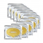 Skin Care Moisturizing Collagen Lip Mask / Lip Patches - Golden (10 PCS)