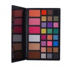 Cosmetic Makeup 24-Color Eye Shadow + 3-Color Grooming Powder + 3-Color Blusher Palette - Black
