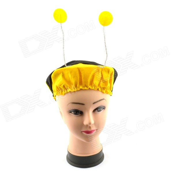 Halloween Costume Accessory Props Elastic Bumblebee Hat - Yellow + Black yeduo black sexy lady lace mask for masquerade halloween party fancy dress costume