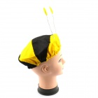 Halloween Costume Accessory Props Elastic Bumblebee Hat - Yellow + Black