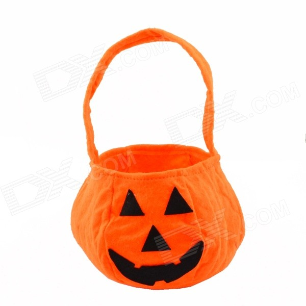 Halloween Costume Prop Pumpkin Style Purse Handbag - Orange