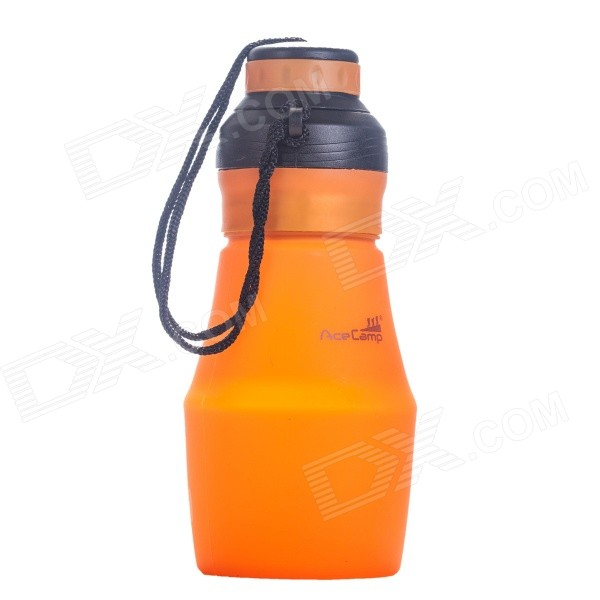 Outdoor Camping Sports beweglicher faltbarer Multi Squeezable Silikon Flasche - Orange (600 ml)
