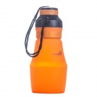 Outdoor Camping Sports Portable Foldable Multipurpose Squeezable Silicone Bottle - Orange (600mL)