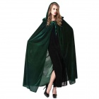 Halloween Masquerade Costume Props Polyester Witch Cloak - Green (Free Size)