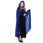 Halloween Masquerade Costume Props Polyester Witch Cloak - Blue (Free Size)