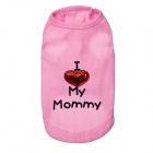 I Love My Mommy Cool Vest for Pets Dogs - Pink (M)