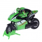8012 Rechargeable 4-CH Radio Control R/C Stunt Motorcycle Toy - Green