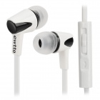 Ewtto ET-A1331M 3.5mm Plug Earphone w/ Microphone / Remote - White
