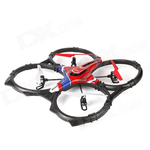 SYMA X6 Large 4-Axis Remote Control Aircraft w/ Gyro - Black + Red