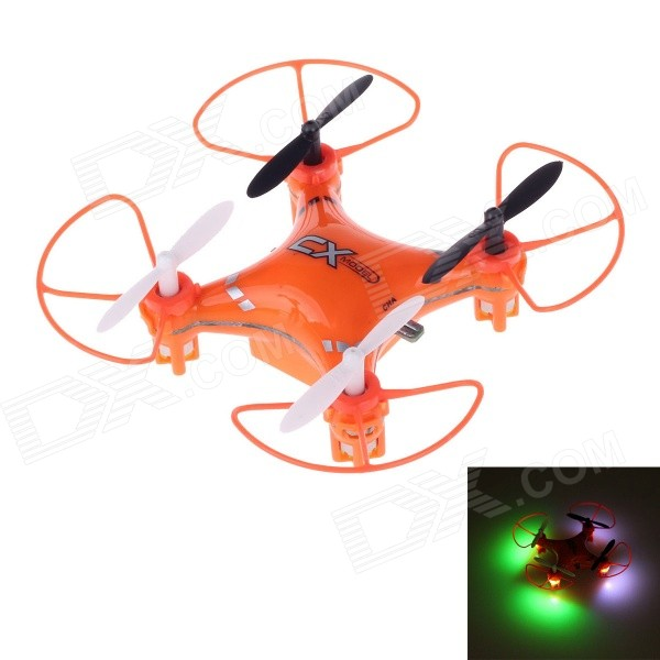 CX023 Mini 2.4GHz 5-Channel 6-Axis R/C Quadcopter w/ Gyro / LED Light - Orange