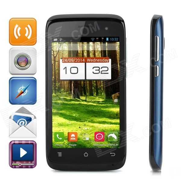 PHICOMM C230w 4.0 MSM8612 Quad-Core Android 4.3 Phone w/ 512MB RAM, 4GB ROM, Dual-SIM - Deep Blue