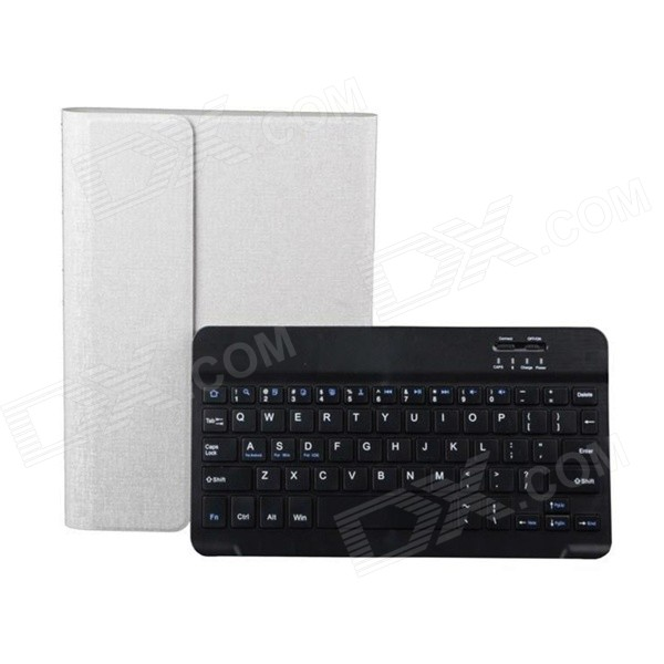 Detachable TPU + ABS Bluetooth V3.0 Keyboard Case for iPad MINI - White