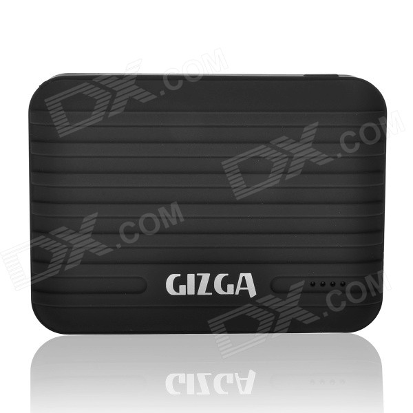 GIZGA Universal Dual USB Output 10400mAh Li-po External Power Bank for IPHONE / Cellphone - Black tyt tae yeong tbbq3 100iii dual power source automatic switch 16a 3p dual power transfer switch
