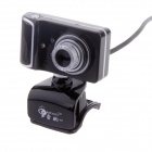 RAYANTS C-003 USB 2.0 Wired 8.0MP HD Webcam w/ Night Vision / Microphone - Black + Sliver