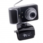 RAYANTS C-003 USB 2.0 Wired 8.0MP Night Vision Webcam- Black + Silver