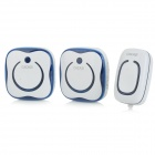 CACAZI 9809-2 Water-resistant Wireless Digital Doorbells w/ R/C - Deep Blue (AC 110~220V / US Plug)