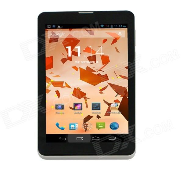 AOSON M701TS 7 Dual-Core Phone Tablet PC w/ 4GB ROM / Wi-Fi / Bluetooth, TF - White + Black black new 7 85 inch regulus 2 itwgn785 tablet touch screen panel digitizer glass sensor replacement free shipping