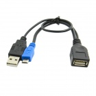 CY U2-265-BK Micro USB 2.0 OTG Host Flash Disk Cable with USB Power for Galaxy Note3 S3/S4/i9500
