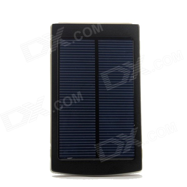 SP30000 Solar Powered Dual USB 15000mAh Li-polymer Battery Power Bank w/ LED Indicator / Flashlight portable dual usb 5v 10000mah li ion polymer battery solar power bank w led black grey