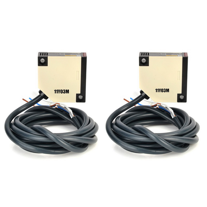 E3JK-5DM1 / E3JK-5L Photoelectric Switches w/ Cable Set - Black + Grey (2 PCS / DC 12~240V) [zob] new original omron omron photoelectric switch e3jk ds30m1 e3jk dr12 c 2pcs lot