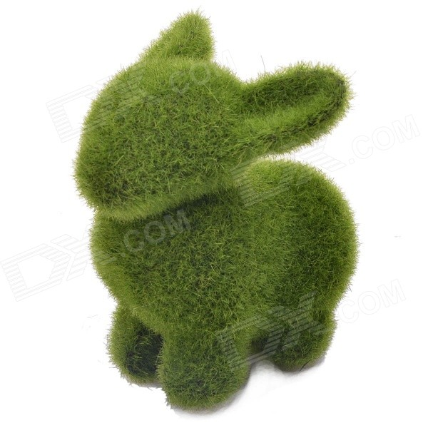 NEJE ZJ0016-1 Grass Land Handmade Animal Artificial Turf Rabbit Display Toy