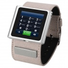 "IK-C Quad-band GSM Smart Watch Phone w/ 1.54"" Sreen, Bluetooth, Pedometer, Remote Camera - Silver"