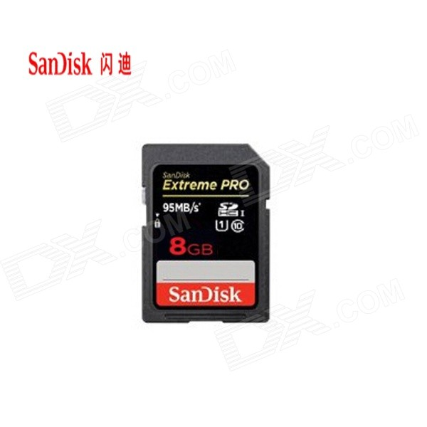 SanDisk Extreme Pro 8GB SDHC UHS-1 Flash Memory Card (Class 10)