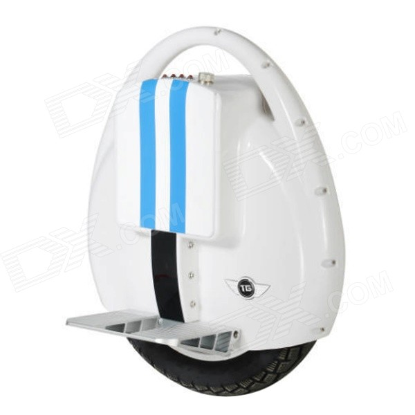 TG T3 Electric Self-Balancing Bike Motor Unicycle Monocycle Mini Solo Scooter - White + Blue