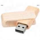 MZ-05 Creative Wood Shell Rotating USB Flash Drive - Wood + Silver (8GB)