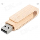 MZ-05 Creative Wood Shell USB giratorio Flash Drive - Madera + Plata (32 GB)