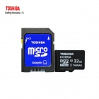 TOSHIBA EXCERIA 32GB Micro SDHC TF Card - Black + White