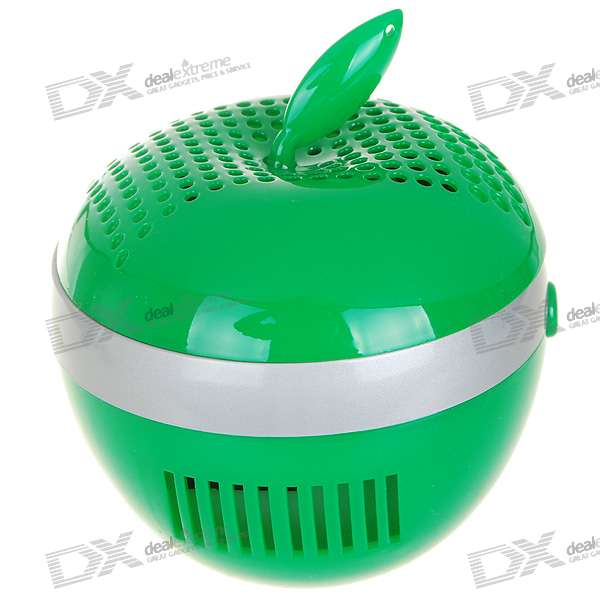USB Powered Apple Shaped Air Purifier and Ionizer (Green)