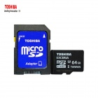 TOSHIBA EXCERIA 64GB Micro SDHC TF Card - Black + White