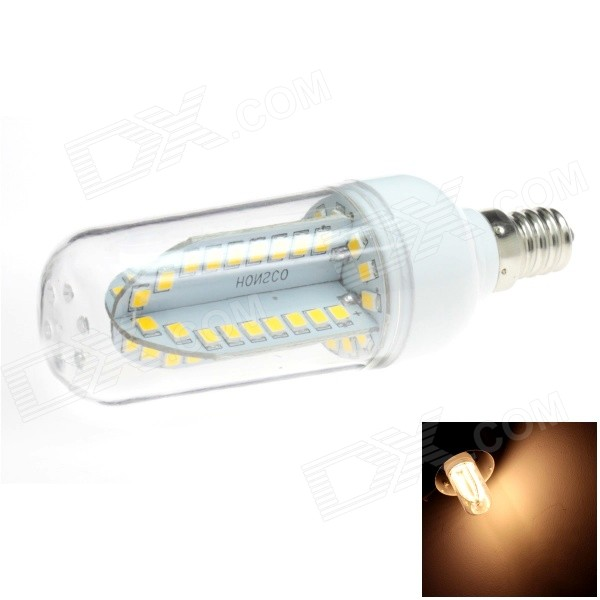 HONSCO E12 5W 400lm 84-SMD 2835 LED 3000K Warm White Light Corn Bulb (AC 85-265V) honsco e27 5w 400lm 3000k 84 smd 2835 led warm white light bulb white silver ac 85 265v